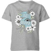 Barlena No Drama Kids' T-Shirt - Grey - 11-12 Years - Grey - Drama Gifts