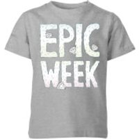 Barlena Epic Week Kids' T-Shirt - Grey - 11-12 Years - Grey