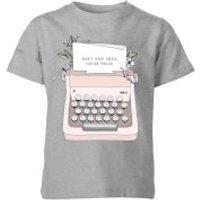 Barlena Don't Stop Until You're Proud Kids' T-Shirt - Grey - 7-8 Years - Grey
