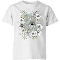 Barlena No Drama Kids' T-Shirt - White - 11-12 Years - White - Drama Gifts