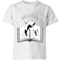 Barlena Believe Kids' T-Shirt - White - 11-12 Years - White