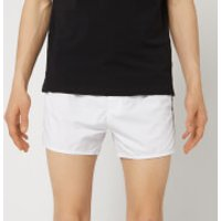 Emporio Armani Men's Embroidered Swim Shorts - White - EU 54/XL - White