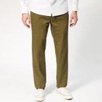 A.P.C. Men's Pantalon Quake Trousers - Khaki - W32 - Green