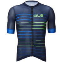 Ale Solid Ergo Jersey - L - Fluo Blue/Fluo Green