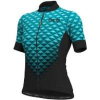 Ale Women's Solid Hexa Jersey - L - Black/Turquoise
