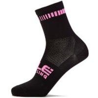 Ale Logo Q-Skin Socks - L - Black/Fluo Pink