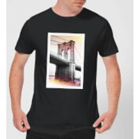 Brooklyn Bridge Men`s T-Shirt - Black