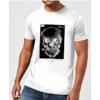 Distorted Skull Mens T-Shirt - White - XL - White