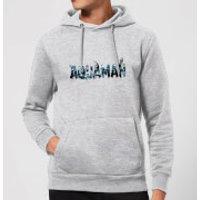 Aquaman Chest Logo Hoodie - Grey - S - Grey
