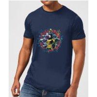 Aquaman Circular Portrait Men's T-Shirt - Navy - XL - Navy