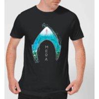 Aquaman Mera Logo Men's T-Shirt - Black - S - Black