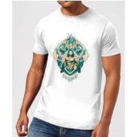 Aquaman Seven Kingdoms Men's T-Shirt - White - 3XL - White