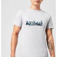 Image of Aquaman Chest Logo Men's T-Shirt - Grey - XL - Grey