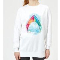 Aquaman Mera Beach Symbol Women's Sweatshirt - White - S - White