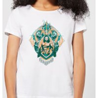 Aquaman Seven Kingdoms Women's T-Shirt - White - XL - White
