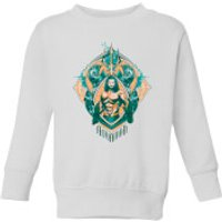 Aquaman Seven Kingdoms Kids' Sweatshirt - White - 11-12 Years - White