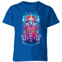 Aquaman Mera Hourglass Kids' T-Shirt - Royal Blue - 9-10 Years - Royal Blue