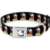 Buckle-Down Classic Mickey Mouse Dog Collar (Various Sizes) - S/13-18 Inches - Pets Gifts