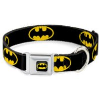 Buckle-Down DC Comics Batman Shield Dog Collar (Various Sizes) - L/15-26 Inches - Pets Gifts
