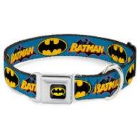Buckle-Down DC Comics Batman Vintage Dog Collar - Blue (Various Sizes) - L/15-26 Inches - Pets Gifts