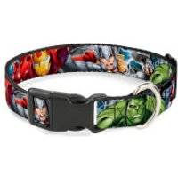 Buckle-Down Marvel Avengers Superheroes Plastic Clip Dog Collar (Various Sizes) - L/15-26 Inches - Pets Gifts