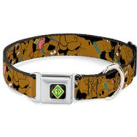 Buckle-Down Scooby-Doo! Dog Collar (Various Sizes) - S/9-15 Inches - Pets Gifts
