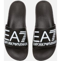 Emporio Armani EA7 Sea World Slide Sandals - Black - EU 44 - Black