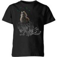 Fantastic Beasts Tribal Augurey Kids' T-Shirt - Black - 7-8 Years - Black