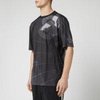 Y-3 Men's All Over Print Football Shirt - Parachute Black AOP - S - Black