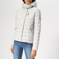 Superdry Women's Fuji Slim Double Zip Jacket - Ice Grey Marl - S - White