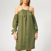 Superdry Women's Eden Cold Shoulder Dress - Khaki - L - Green