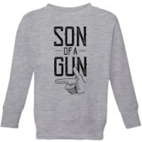 Son Of A Gun Kids' Sweatshirt - Grey - 11-12 Years - Grey - Son Gifts