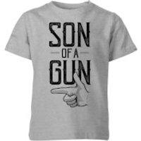 Son Of A Gun Kids' T-Shirt - Grey - 11-12 Years - Grey - Son Gifts