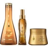L'Oreal Professionnel Mythic Oil Shampoo, Masque and Oil Trio for Normal/Fine Hair