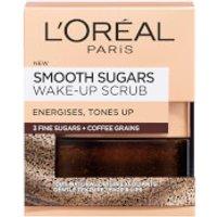 L'Oreal Paris Smooth Sugar Wake-Up Coffee Face and Lip Scrub 50ml