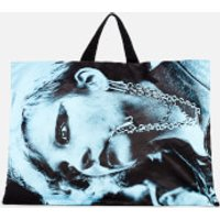 Eastpak X Raf Simons Men's Poster Tote Bag - Black Satin