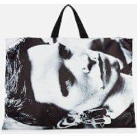 Eastpak X Raf Simons Men's Poster Tote Bag - Silver Satin