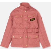 Barbour International Girls Flyweight Jacket - Vintage Rose - M/8-9 years