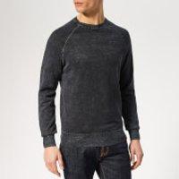 Superdry Men's Garment Dyed La Crew Knit - Navy Washed Thunder - L - Blue