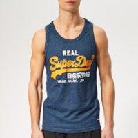 Superdry Men's Logo Vest - Cobalt Grit - XXL - Blue