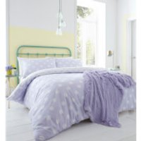 Catherine Lansfield Polka Dot Easy Care Duvet Set - Lilac - Single - Purple