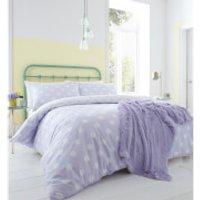 Catherine Lansfield Polka Dot Easy Care Duvet Set - Lilac - Single - Purple