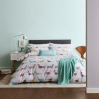 Catherine Lansfield Silly Sausage Dog Easy Care Duvet Set - Multi - Double - Multi