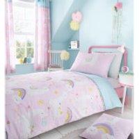 Catherine Lansfield Llama-Corn Easy Care Duvet Set - Pink - Single - Pink