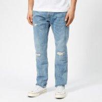 Edwin Men's ED-55 Regular Tapered Rainbow Selvedge Denim Jeans - Manami Repair Wash - W36/L32 - Blue
