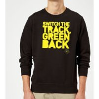 Danger Mouse Switch The Track Green Back Sweatshirt - Black - 5XL - Black - Track Gifts