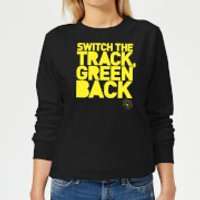 Danger Mouse Switch The Track Green Back Women's Sweatshirt - Black - 5XL - Black - Track Gifts