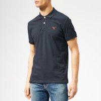 GANT Mens Contrast Collar Pique Short Sleeve Rugger - Evening Blue - XL - Blue