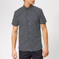 Ted Baker Men's Polarbe Short Sleeve Shirt - Navy - 4/L - Blue