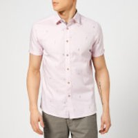 Ted Baker Men's Seacucu Short Sleeve Shirt - Pink - 4/L - Pink